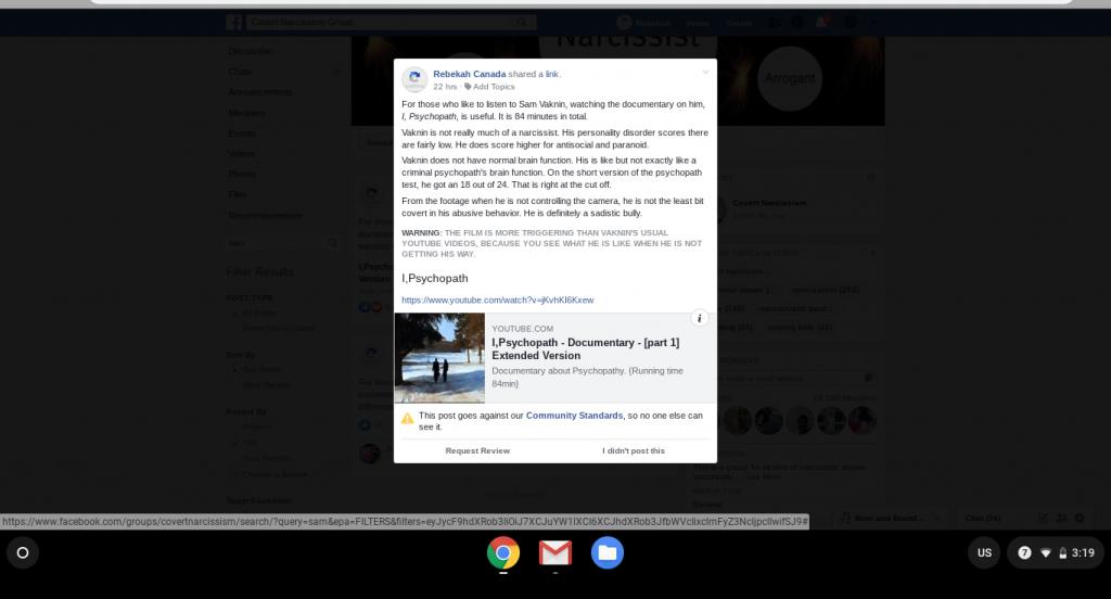 Facebook Censorship 1